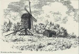 Pentekening J. Drent van Katinger standermolen
