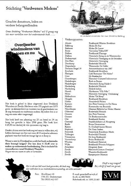 Affiche Overijsselse windmolens van toen en nu