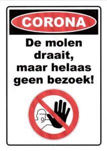 Molen gesloten corona